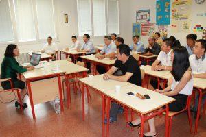 国务院侨办一行领导与中意国际学校领导共同座谈